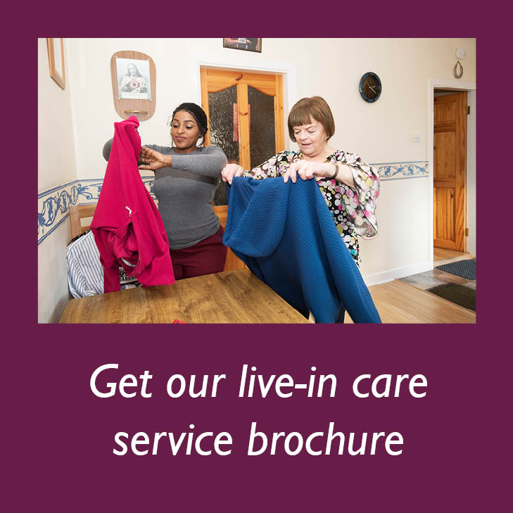 Get Home Instead's live-in care service brochure