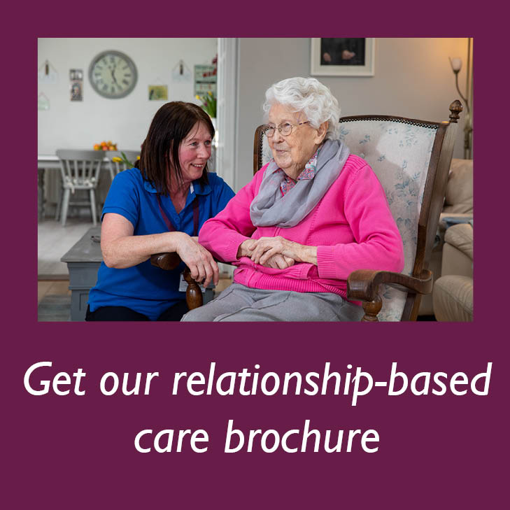 Get Home Instead's relationship-based care brochure